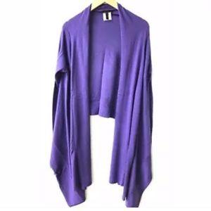 BCBG Purple cashmere cardigan size medium/large